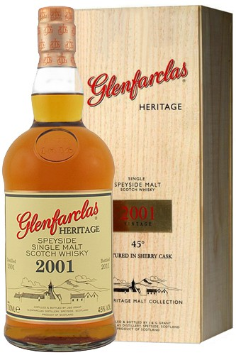 Glenfarclas Heritage 2001 Whisky in Holzbox