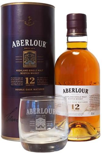 Aberlour 12 Double Cask mit Glas