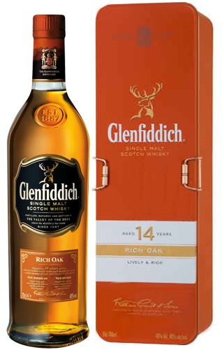 Glenfiddich 14 Jahre Rich Oak in edler Metallbox