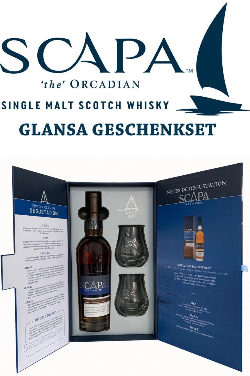 Scapa Glansa Scotch Whisky Geschenkset