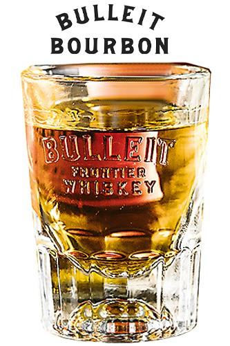 Bulleit Whiskey Glas mit schönem Logo