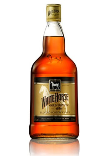 White_Horse Whiskey Flasche