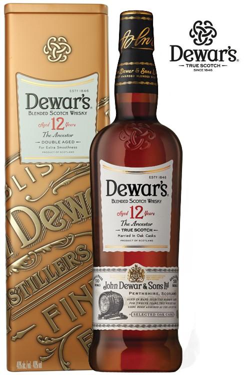 Dewars 12 Jahre Whisky in Metallbox