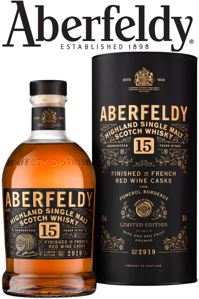 Aberfeldy 15 Jahre- Red Wine Casks Finish