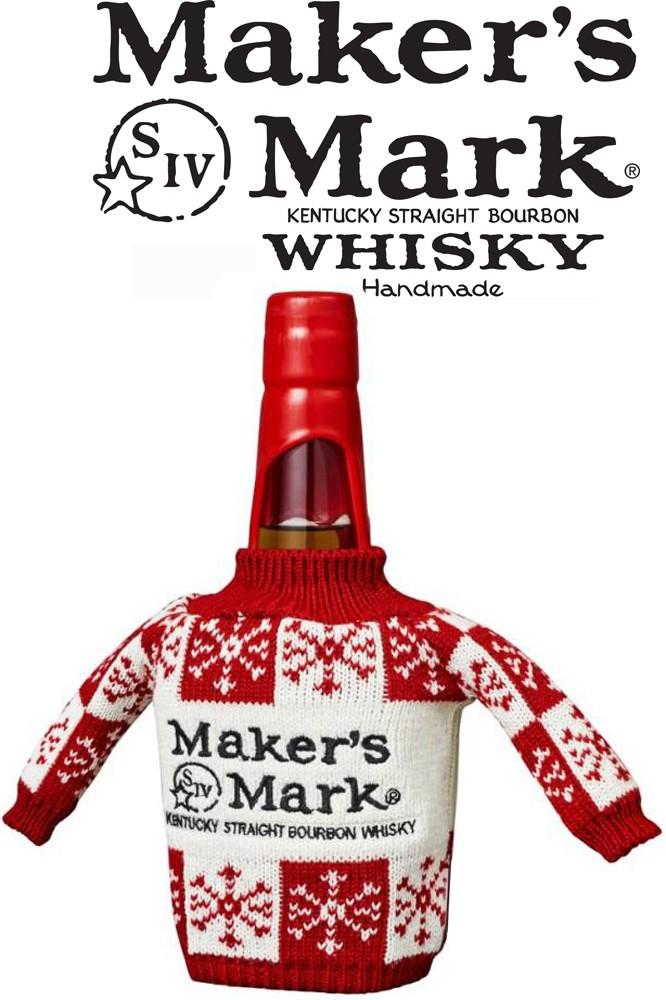 Maker's Mark Bourbon im Strickpullover