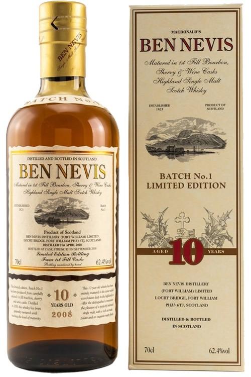 Ben Nevis 10 Jahre - Cask Strength - Batch 1